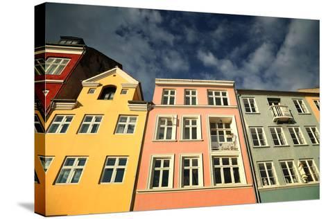 Colourful Houses in Copenhagen, Europe-pink candy-Stretched Canvas Print