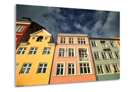 Colourful Houses in Copenhagen, Europe-pink candy-Metal Print