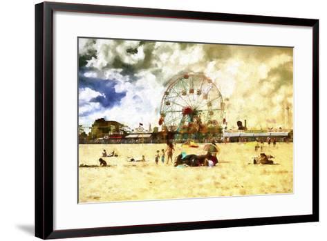 Coney Island Summer Beach-Philippe Hugonnard-Framed Art Print