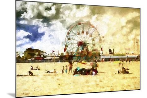 Coney Island Summer Beach-Philippe Hugonnard-Mounted Giclee Print