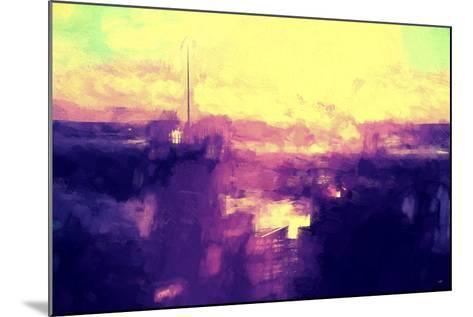 NYC Sunset Abstract II-Philippe Hugonnard-Mounted Giclee Print
