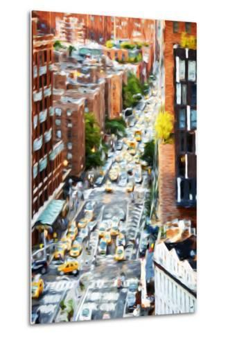 Manhattan City - In the Style of Oil Painting-Philippe Hugonnard-Metal Print