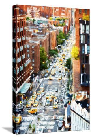 Manhattan City - In the Style of Oil Painting-Philippe Hugonnard-Stretched Canvas Print