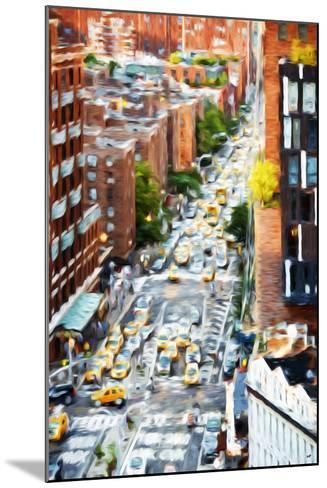 Manhattan City - In the Style of Oil Painting-Philippe Hugonnard-Mounted Giclee Print