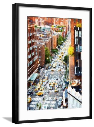 Manhattan City - In the Style of Oil Painting-Philippe Hugonnard-Framed Art Print