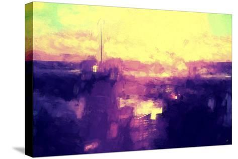 NYC Sunset Abstract II-Philippe Hugonnard-Stretched Canvas Print