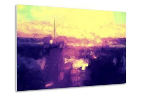 NYC Sunset Abstract II-Philippe Hugonnard-Metal Print