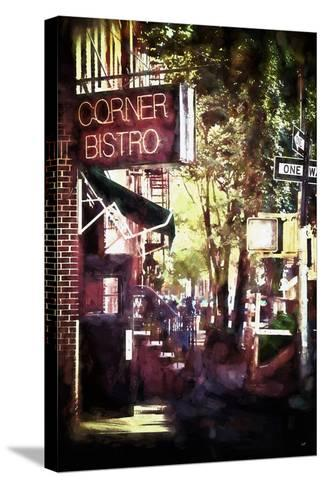 NYC Corner Bistro-Philippe Hugonnard-Stretched Canvas Print