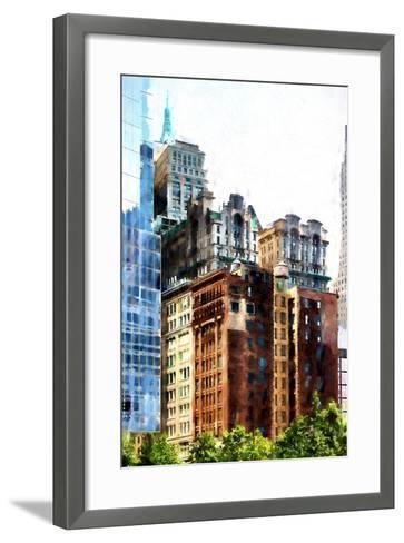 Manhattan Buildings III-Philippe Hugonnard-Framed Art Print