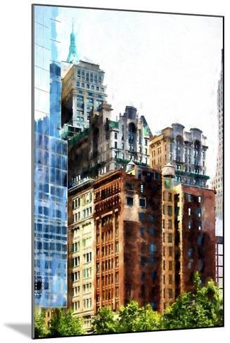 Manhattan Buildings III-Philippe Hugonnard-Mounted Giclee Print