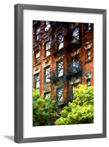 Building Stairs NYC-Philippe Hugonnard-Framed Art Print