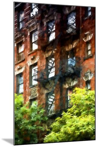 Building Stairs NYC-Philippe Hugonnard-Mounted Giclee Print
