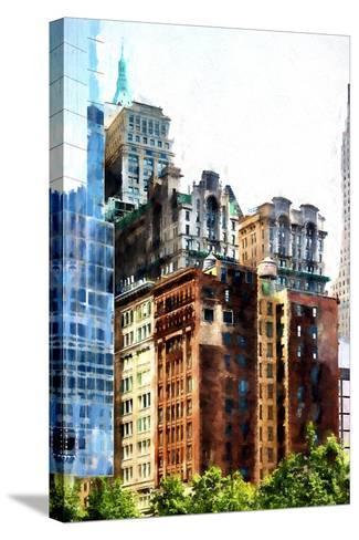 Manhattan Buildings III-Philippe Hugonnard-Stretched Canvas Print