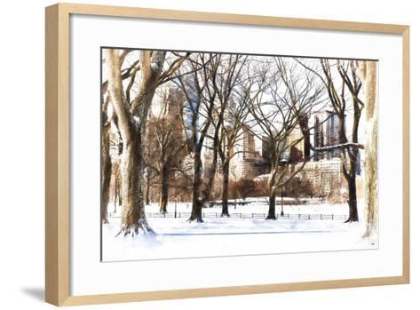 Snow in Central Park III-Philippe Hugonnard-Framed Art Print