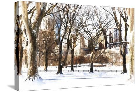 Snow in Central Park III-Philippe Hugonnard-Stretched Canvas Print
