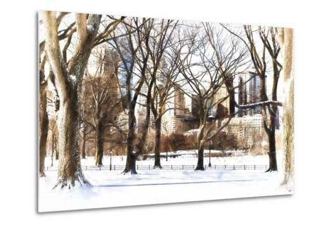 Snow in Central Park III-Philippe Hugonnard-Metal Print