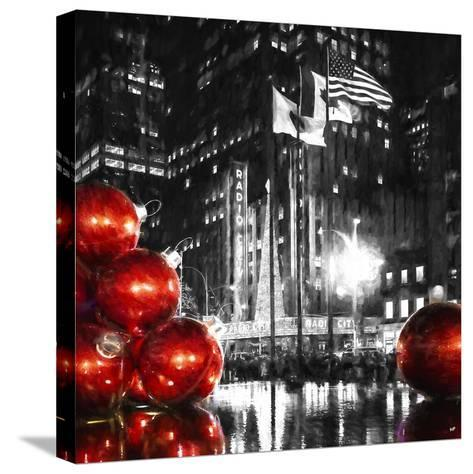 Manhattan Christmas II-Philippe Hugonnard-Stretched Canvas Print