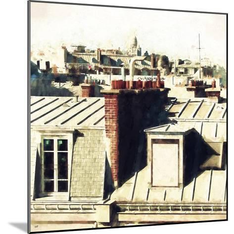 Paris Rooftops II-Philippe Hugonnard-Mounted Giclee Print