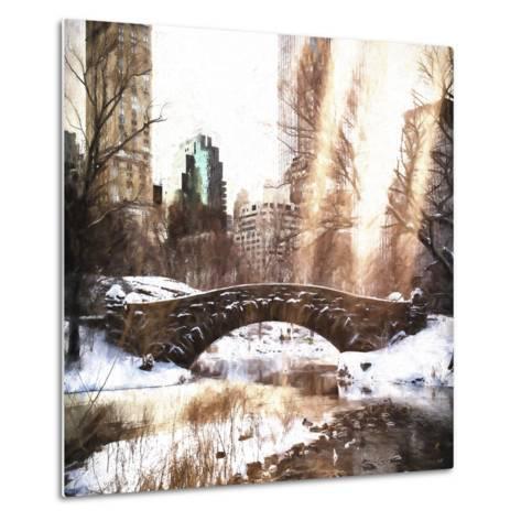 Sunlight on Central Park-Philippe Hugonnard-Metal Print