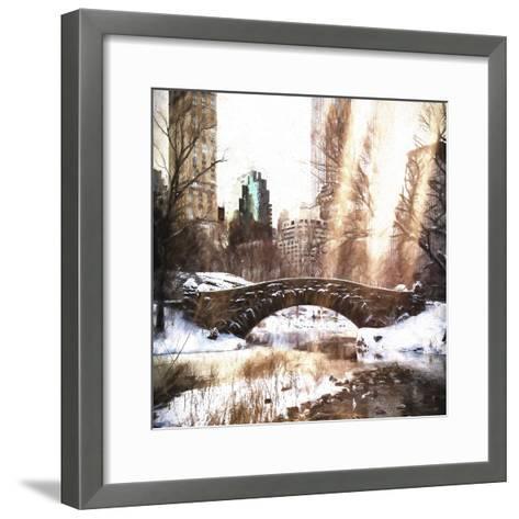 Sunlight on Central Park-Philippe Hugonnard-Framed Art Print