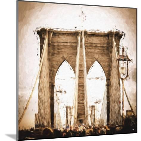 Brooklyn Bridge II - In the Style of Oil Painting-Philippe Hugonnard-Mounted Giclee Print