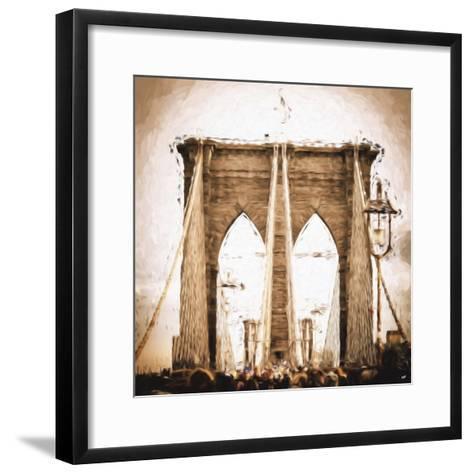 Brooklyn Bridge II - In the Style of Oil Painting-Philippe Hugonnard-Framed Art Print