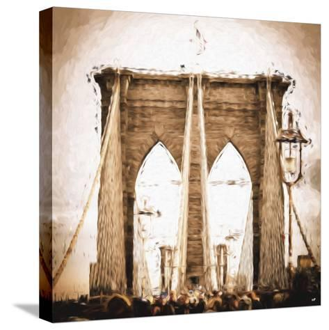 Brooklyn Bridge II - In the Style of Oil Painting-Philippe Hugonnard-Stretched Canvas Print