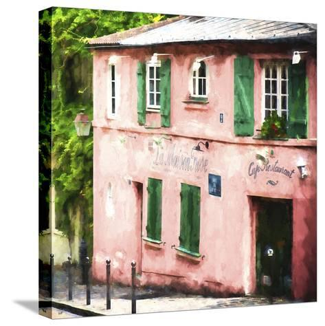 La Maison Rose Montmartre-Philippe Hugonnard-Stretched Canvas Print