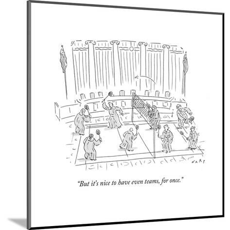 """""""But it's nice to have even teams, for once."""" - Cartoon-Kim Warp-Mounted Premium Giclee Print"""