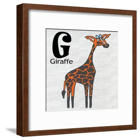 G Giraffe-Shanni Welsh-Framed Art Print