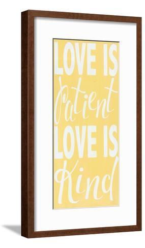 1 Corinthians 13 Buttter Yellow-Alli Rogosich-Framed Art Print