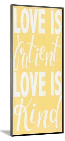 1 Corinthians 13 Buttter Yellow-Alli Rogosich-Mounted Art Print