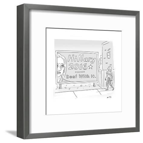 Hillary 2016 - Deal With It - Cartoon-Kim Warp-Framed Art Print