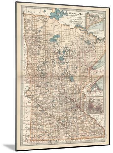 Map of Minnesota-Encyclopaedia Britannica-Mounted Giclee Print