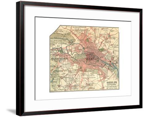 Map of Berlin (C. 1900), Maps-Encyclopaedia Britannica-Framed Art Print