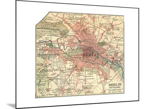 Map of Berlin (C. 1900), Maps-Encyclopaedia Britannica-Mounted Giclee Print