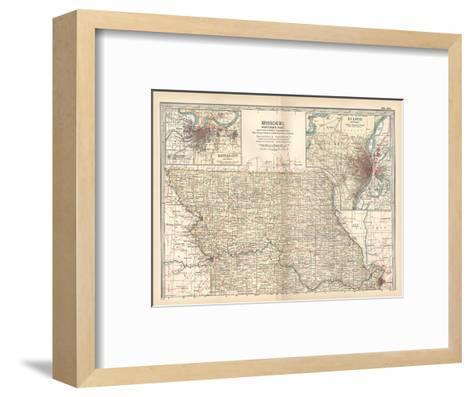 Map of Missouri, Northern Part-Encyclopaedia Britannica-Framed Art Print