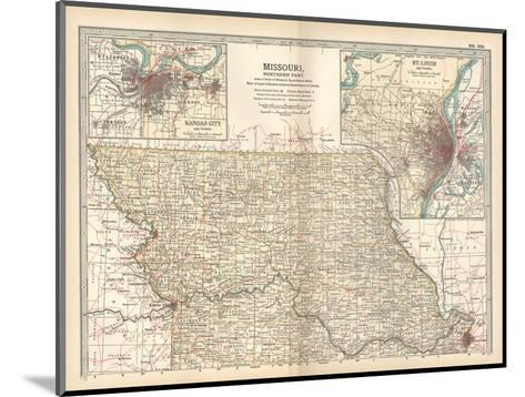 Map of Missouri, Northern Part-Encyclopaedia Britannica-Mounted Giclee Print