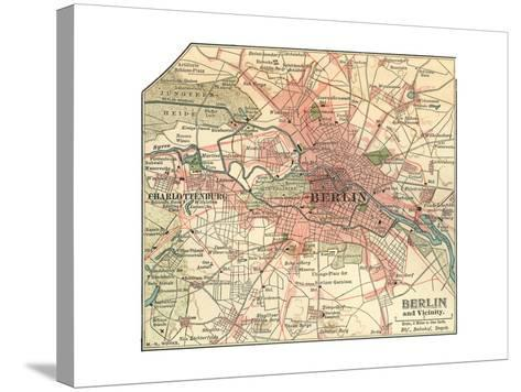 Map of Berlin (C. 1900), Maps-Encyclopaedia Britannica-Stretched Canvas Print