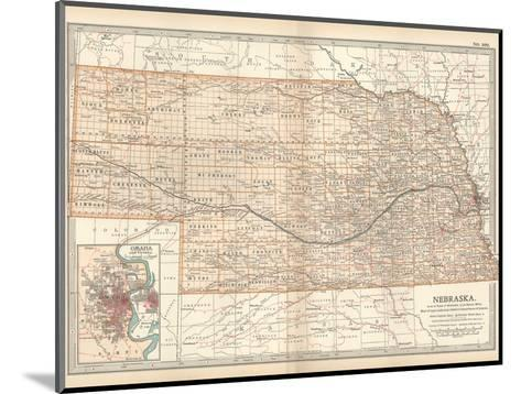 Map of Nebraska. United States. Inset Map of Omaha and Vicinity-Encyclopaedia Britannica-Mounted Giclee Print
