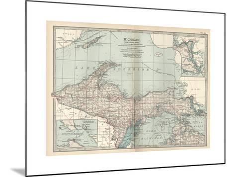 Map of Michigan, Northern Part-Encyclopaedia Britannica-Mounted Giclee Print