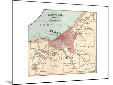 Map of Cleveland (C. 1900), from the 10th Edition of Encyclopaedia Britannica, Maps-Encyclopaedia Britannica-Mounted Giclee Print