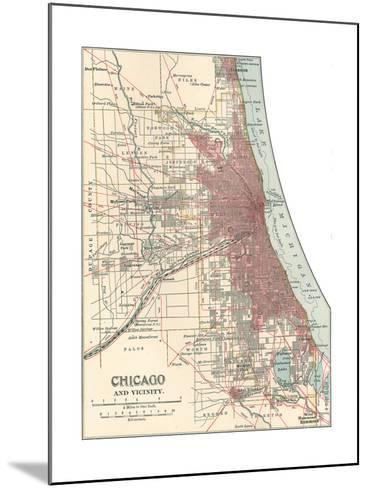Map of Chicago (C. 1900), Maps-Encyclopaedia Britannica-Mounted Giclee Print