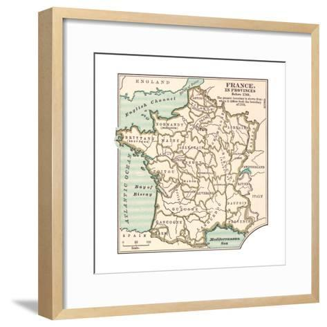 Inset Map of France in Provinces before 1789-Encyclopaedia Britannica-Framed Art Print
