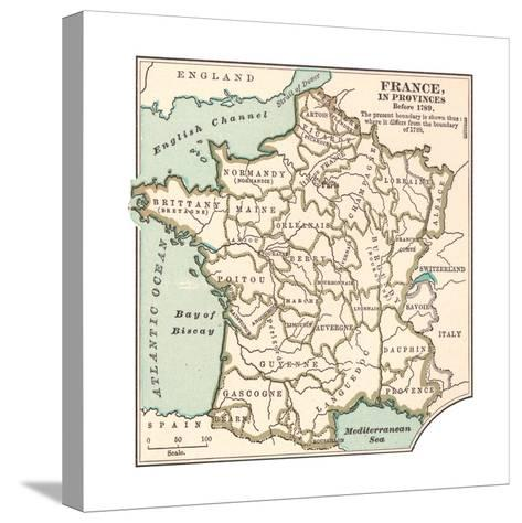 Inset Map of France in Provinces before 1789-Encyclopaedia Britannica-Stretched Canvas Print