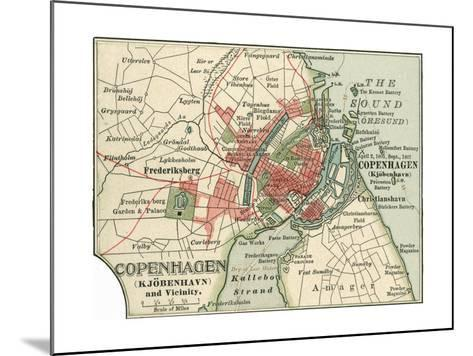 Map of Copenhagen (C. 1900), Maps-Encyclopaedia Britannica-Mounted Giclee Print