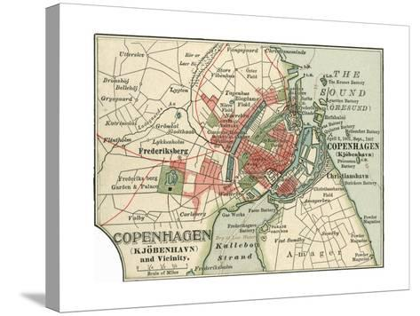 Map of Copenhagen (C. 1900), Maps-Encyclopaedia Britannica-Stretched Canvas Print