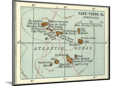 Inset Map of Cape Verde Islands (Portuguese)-Encyclopaedia Britannica-Mounted Giclee Print