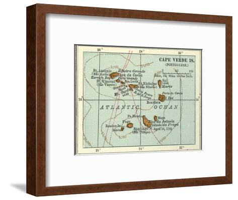 Inset Map of Cape Verde Islands (Portuguese)-Encyclopaedia Britannica-Framed Art Print