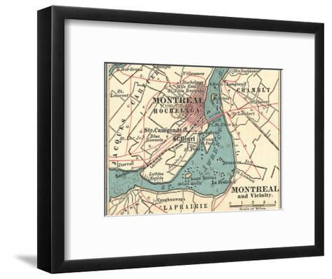 Map of Montreal (C. 1900), Maps-Encyclopaedia Britannica-Framed Art Print